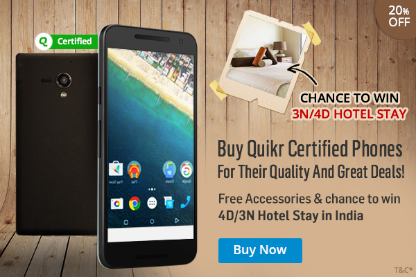 Quikr Certified Phones Holiday Offer