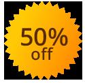 50% 0ff