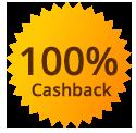 100% casback